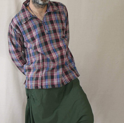 Mens Flannel shirt with pockets , plaid shirt - hipster flannel ,brushed cotton pullover with pockets,  check flannel shirt