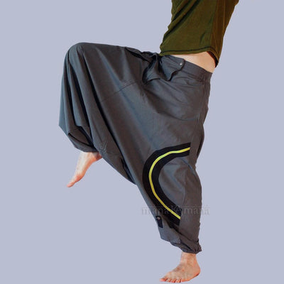 Harem Pants with fly - Festival Afghani hippie pant, - Plus sizes - Extra long