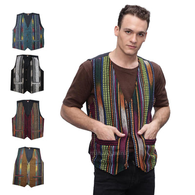 Men's Vest ,Colourful  , Festival Vest - cotton vest - hippie vest