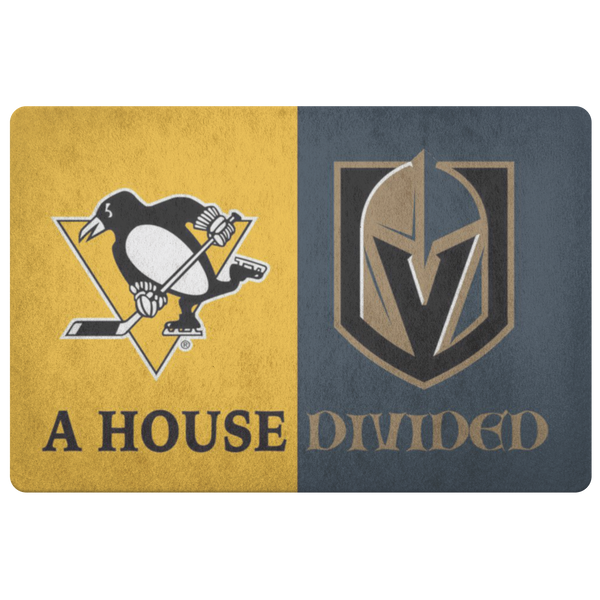 Pittsburgh Penguins Vegas Knights Hockey Doormat - silverageproducts.com