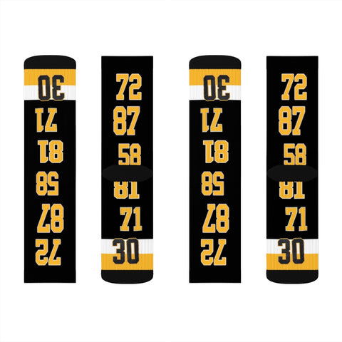 Penguins Sublimation Socks - silverageproducts.com