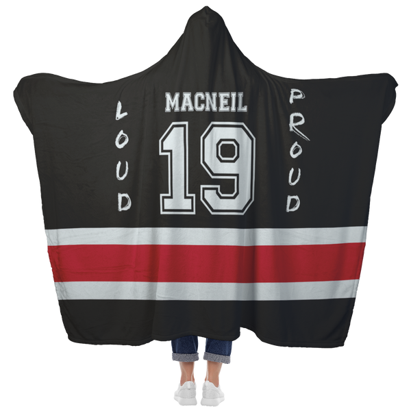 Hockey Mom Hooded Blanket Custom Fleece Throw - silverageproducts.com