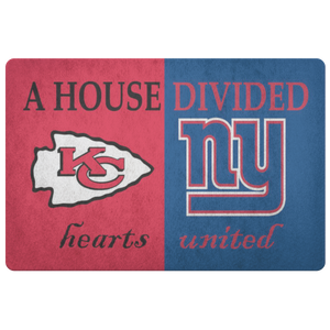 House Divided Man Cave Decor Giants Hearst United Doormat - silverageproducts.com