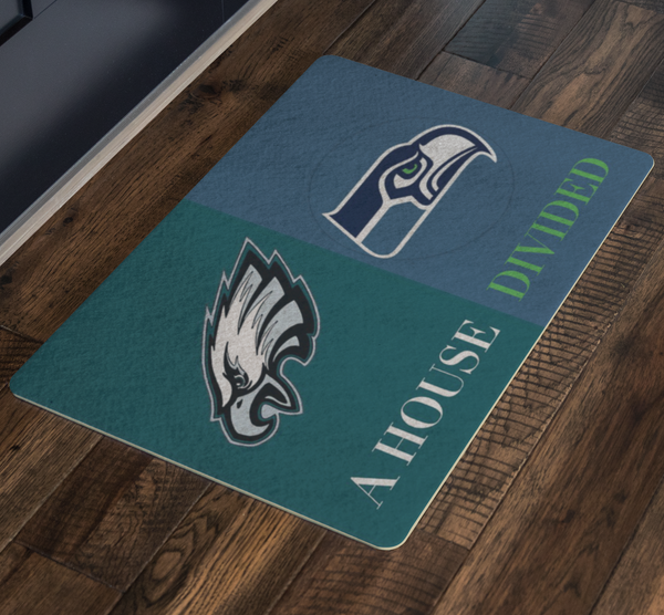 Seahawks Eagles Doormat - silverageproducts.com