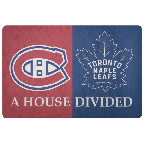 Montreal Canadiens Toronto Maple Leafs NHL Welcome Doormat - silverageproducts.com