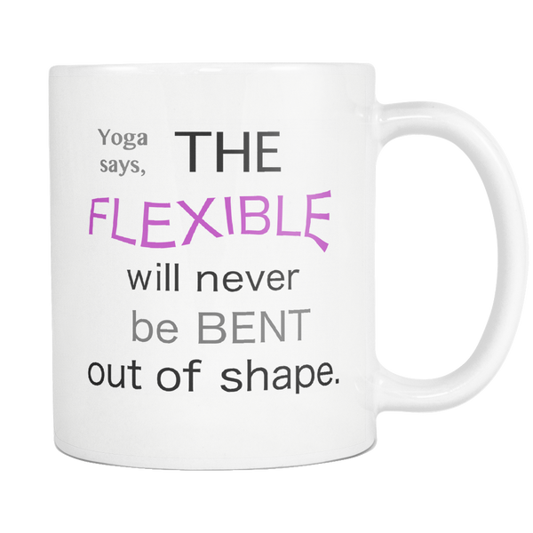 Yoga Coffee Mug Inspirational Motivational Cup Quote - silverageproducts.com