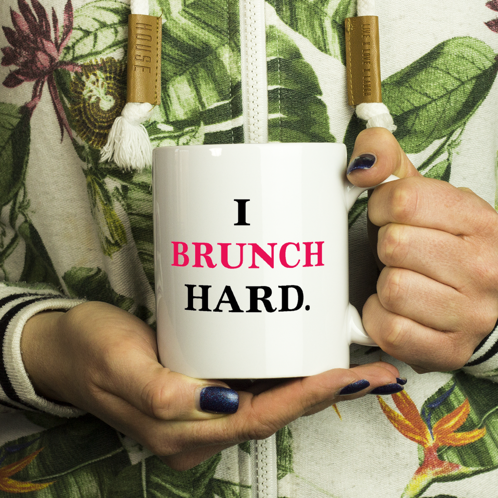 Brunch Coffee Mug - I Brunch Hard - silverageproducts.com