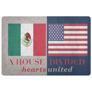 Mexico USA Welcome Custom Doormat - silverageproducts.com