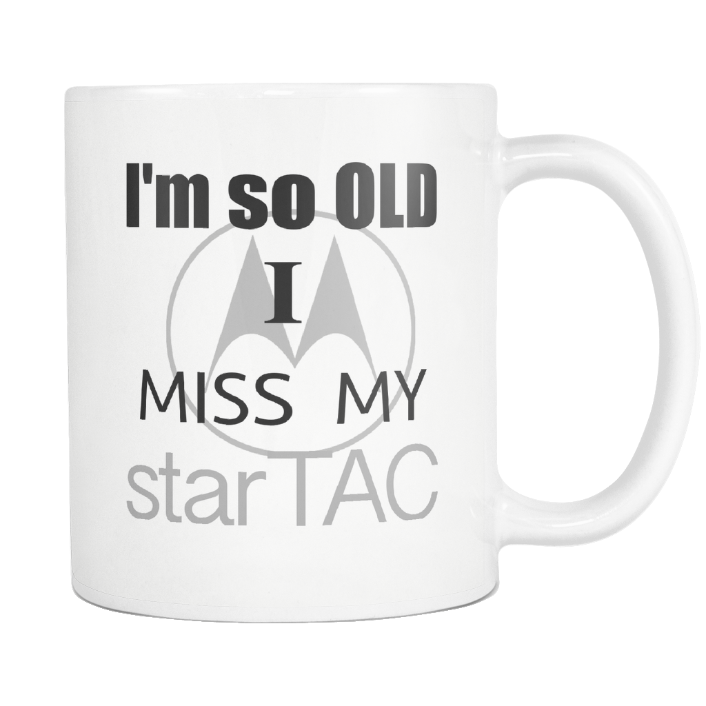 Aging Humor 90's Star Tac Coffee Mug - silverageproducts.com