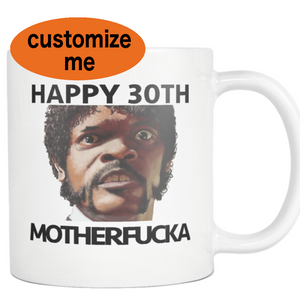 40TH Birthday Samuel Jackson Coffee Mug - silverageproducts.com