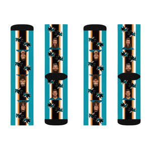 san Jose Sharks Sublimation Socks - silverageproducts.com