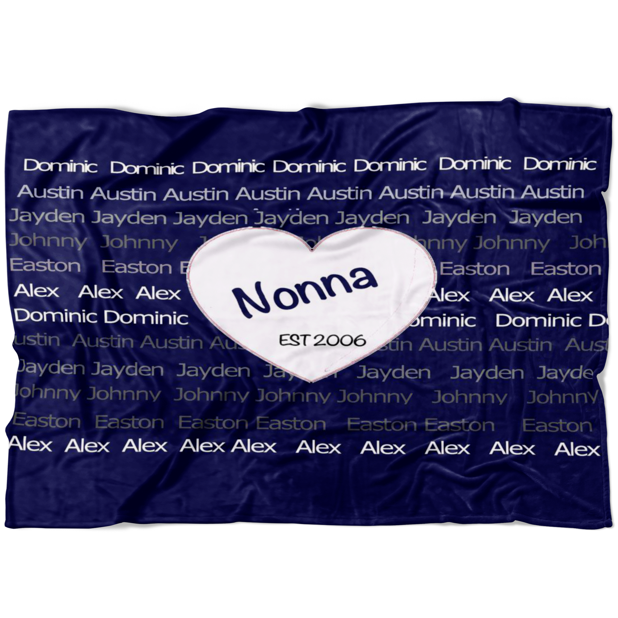 Nonna Custom Family Holiday Fleece Blanket - silverageproducts.com