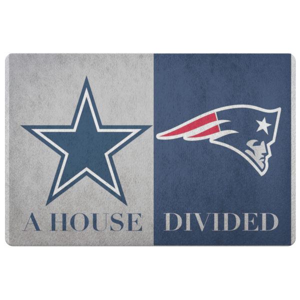 Dallas Cowboys Patriots Football A House Divided Doormat - silverageproducts.com