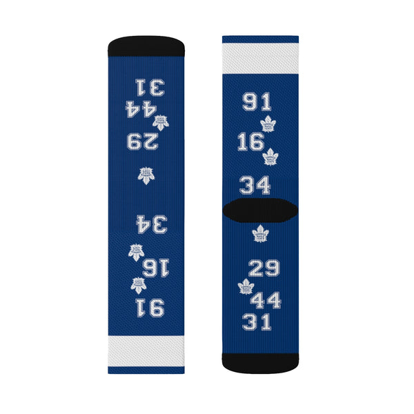 Leafs Fanatic Sublimation Socks - silverageproducts.com