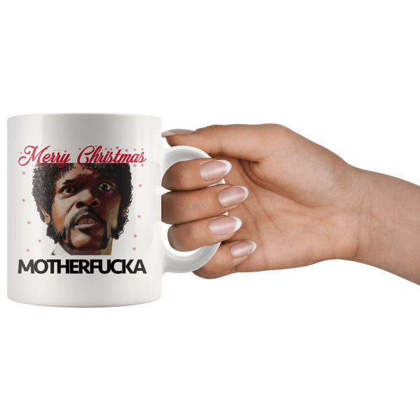 Samuel Jackson Merry Christmas Coffee Movie Mug - silverageproducts.com