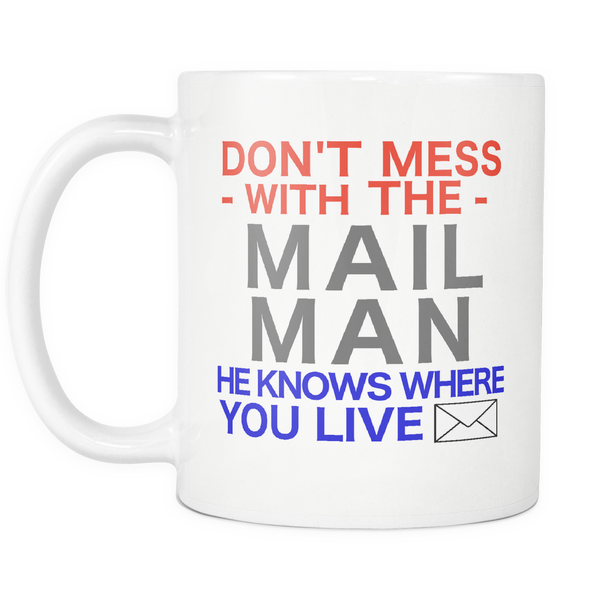 Mail Man Career Gift Coffee Mug - silverageproducts.com
