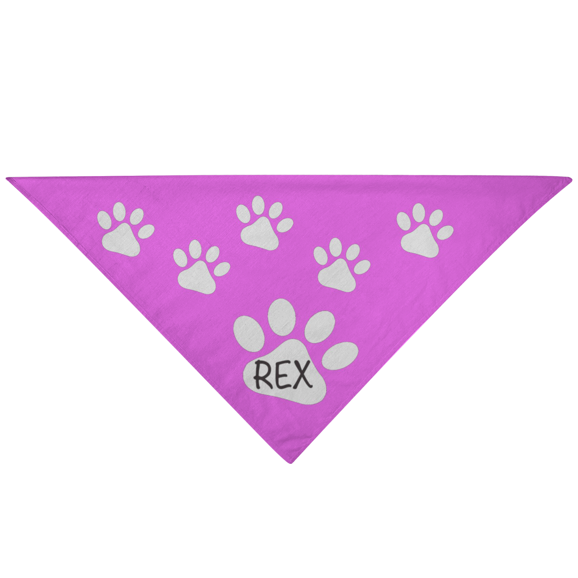 Dog Pet Bandana Pink Customizable For Your Dog - silverageproducts.com