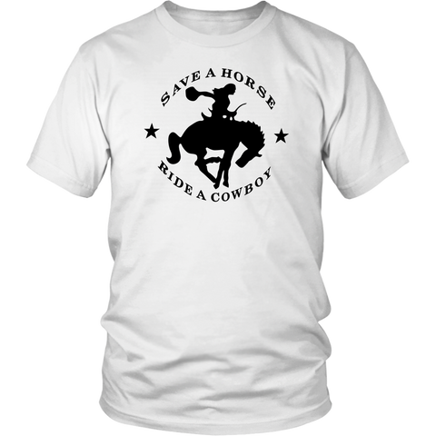 Cowboy Tshirt Big And Rich Save a Horse Ride A Cowboy Tee - silverageproducts.com