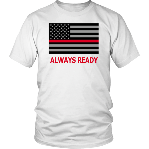 Thin Red Line Firefighter Career Tshirt - silverageproducts.com