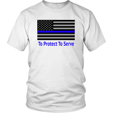 Thun Blue Line PoliceMan PoliceWoman Career Tshirt - silverageproducts.com