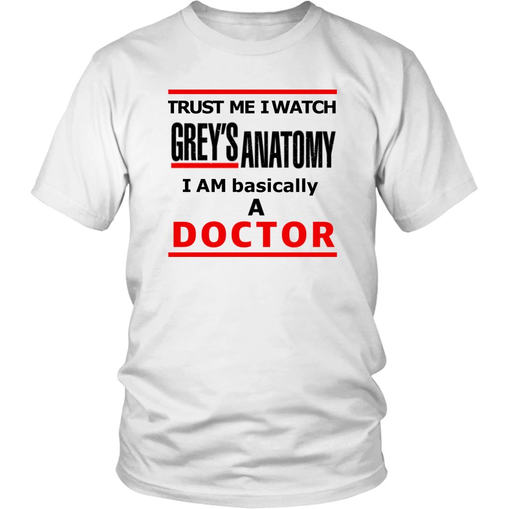 Grey's Anatomy Trust Me Doctor Movie Tshirt Quote - silverageproducts.com