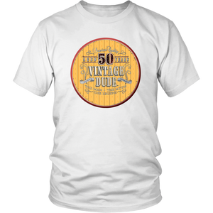 50th Birthday Tee Shirt Great Gift For Dad Man Men Novelty Funny Vintage Dude 50