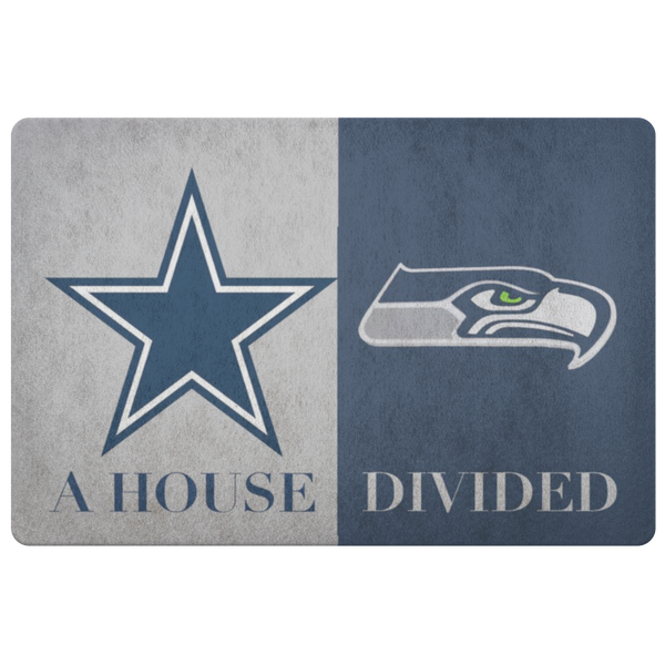 Dallas Cowboys Seattle Seahawks Doormat - silverageproducts.com