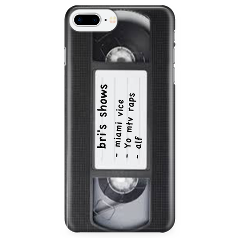 VHS Retro 80's phone case Samsung7  iPhone 7S/7plus - silverageproducts.com