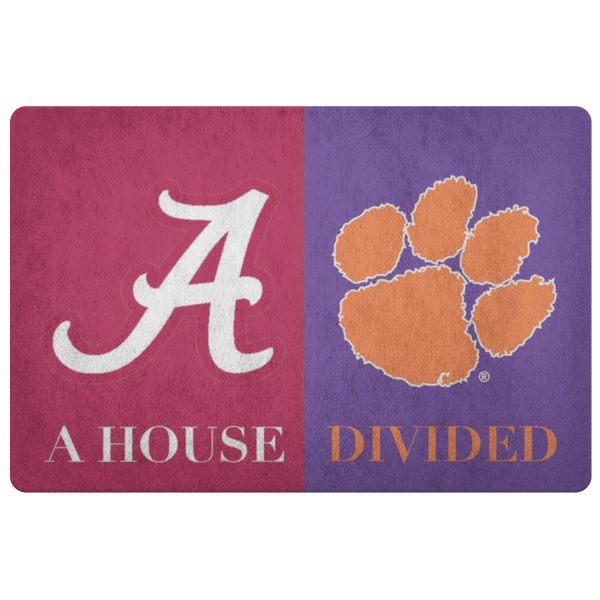 House Divided Man Cave Decor Clemson Doormat - silverageproducts.com