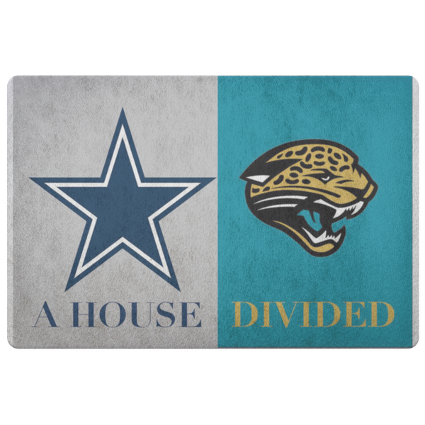 Dallas Cowboys Jacksonville Jaguars Welcome Doormat - silverageproducts.com