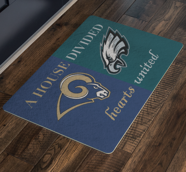 Rams Eagles Doormat - silverageproducts.com
