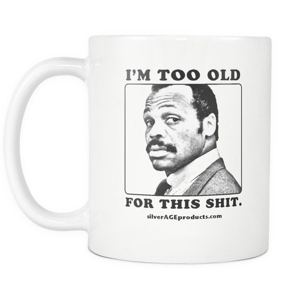 Lethal Weapon 40th Birthday Roger Murtaugh Coffee Mug. Movie Mug For the 30th, 45th, 50th, 60th or 70th Bday. - silverageproducts.com