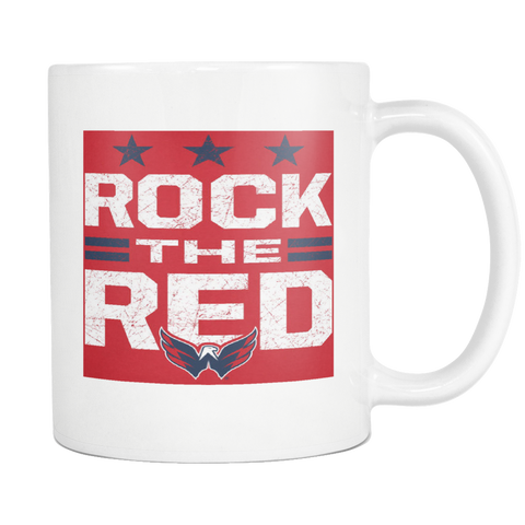 Rock The Red Capitals Hockey Fan Coffee Sport Mug - silverageproducts.com