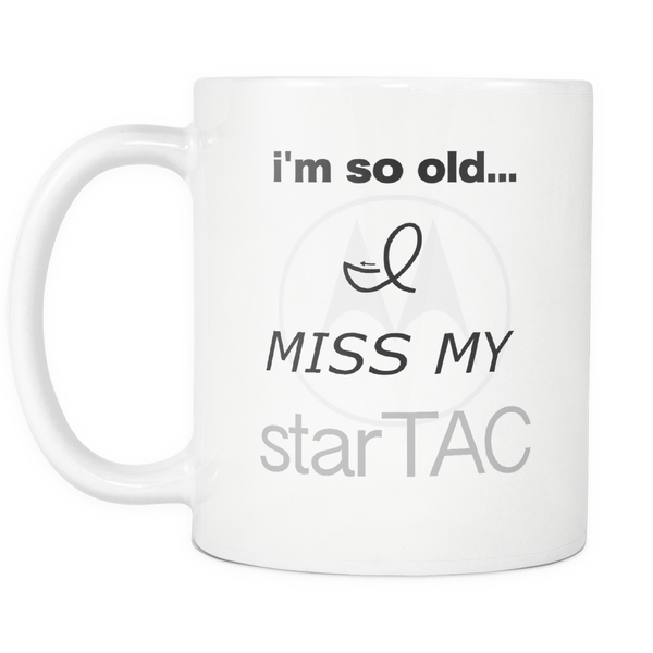Aging Humor Coffee Mug 90's Startac Cell Phone - silverageproducts.com