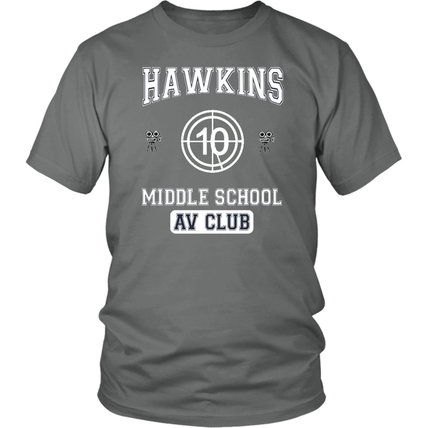 Stranger Things Upside Downs Hawkins AV Club Movie Tshirt - silverageproducts.com