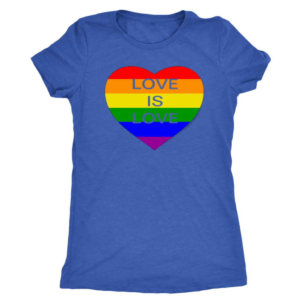 Love is Love LGBT Tshirt Womens Music - silverageproducts.com