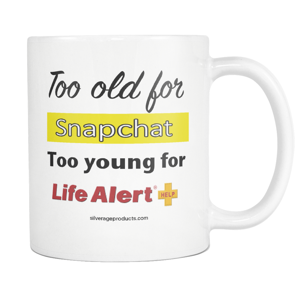SnapChat 50th Birthday Gift For Him Moms Life Alert Coffee Mug Unique Bday