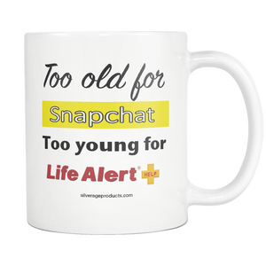 SnapChat 50th Birthday Gift For Him Gift Moms 50th Life Alert Coffee Mug Unique 50th Bday Aging Humor - silverageproducts.com