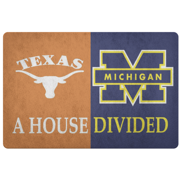 Texas Michigan Doormat - silverageproducts.com