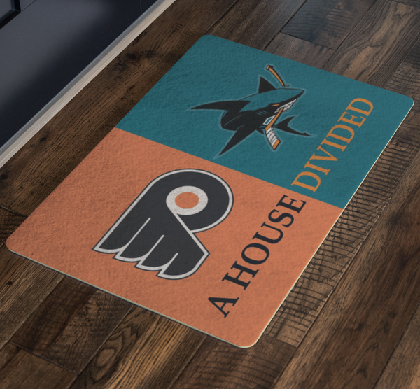 Flyers Sharks House Divided Doormat - silverageproducts.com