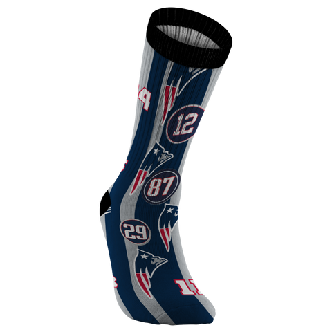 New England Patriot Football Socks Patriots Baby Tom Brady Rob Gronkowski Patriots Fan New England Patriots Fan Gift - silverageproducts.com
