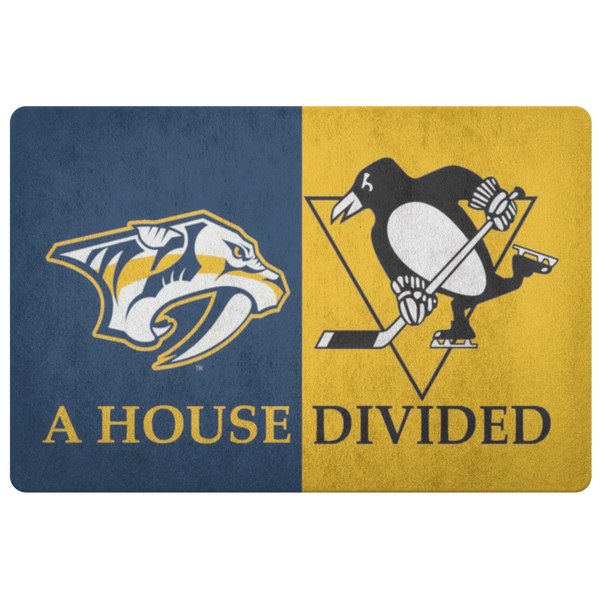 Nashville Predators Pittsburgh Penguins Doormat - silverageproducts.com