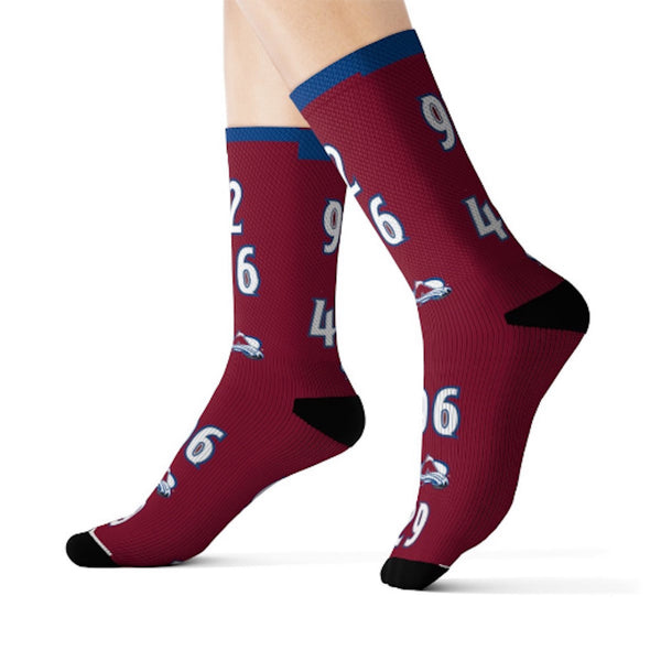 Avs Fanatic Sublimation Socks - silverageproducts.com