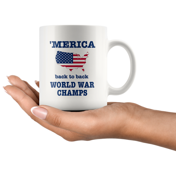 Merica World War Champs Country Strong The Ranch Coffee Mug Patriotic - silverageproducts.com