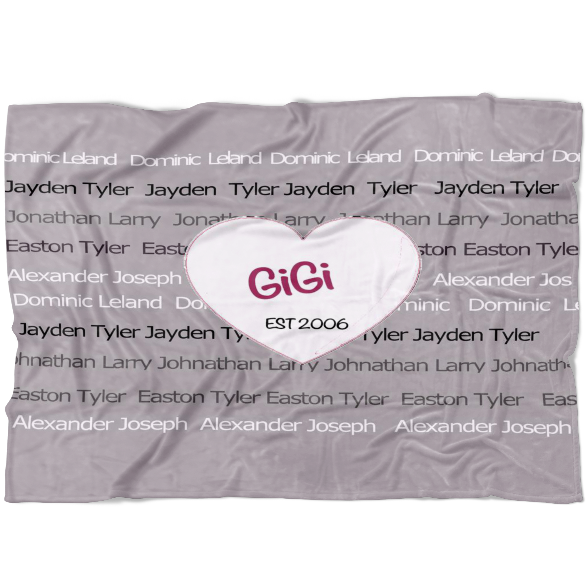 Custom Fleece Family GiGi Blanket - silverageproducts.com