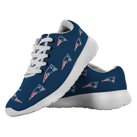 New England Patriots Football Shoes Unique Printed Sneakers Patriots Baby Patriots Fan Patriots Football Patriots Decor Go Pats Custom Shoes - silverageproducts.com