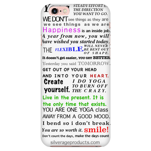 Yoga inspiration Phone Case (white) - iPhone & Samsung - silverageproducts.com