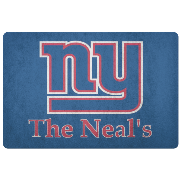 NY Giants Neal Custom Welcome Doormat - silverageproducts.com