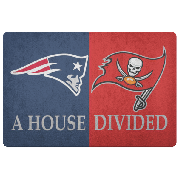 Tampa Bay Bucaneers NE Patriots Doormat - silverageproducts.com
