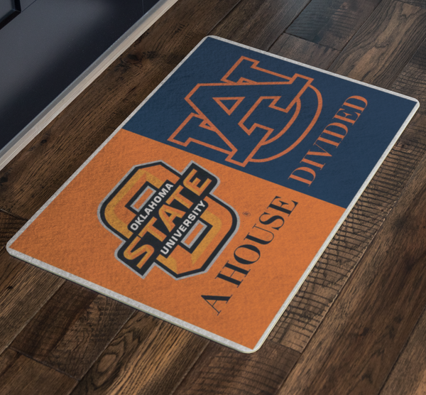 Oklahoma Auburn House Divided Doormat - silverageproducts.com